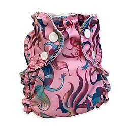 AppleCheeks Size 1 Shell Mermaid Reusable Swim Diaper in Pink