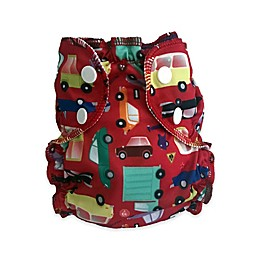 AppleCheeks Size 1 I Car! Reusable Swim Diaper in Red