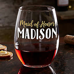 My Bridal Party Personalized Wine Glass