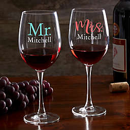 Wedding Day Personalized Red Wine Glass