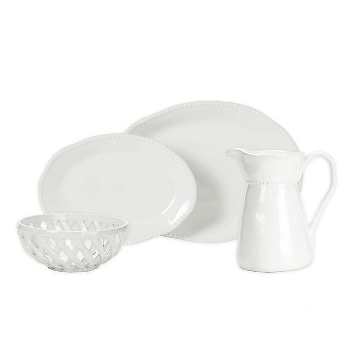 Alternate image 1 for Modern Farmhouse Home Organic Bead Serveware Collection in White