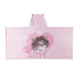 Rachael Hale® Cute Kitty Hooded Towel in Pink