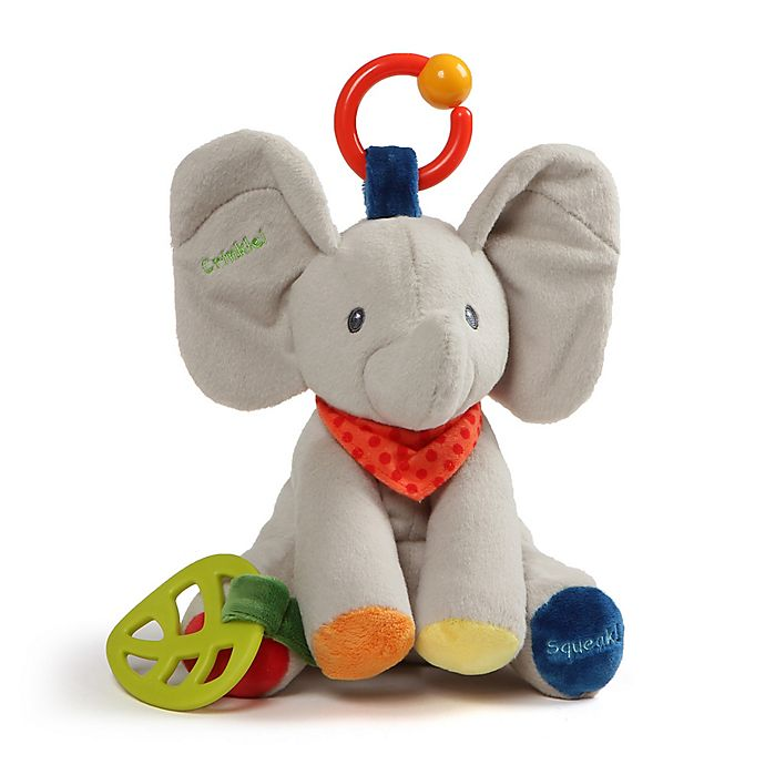 Alternate image 1 for GUND® Flappy the Elephant Activity Plush Toy in Grey