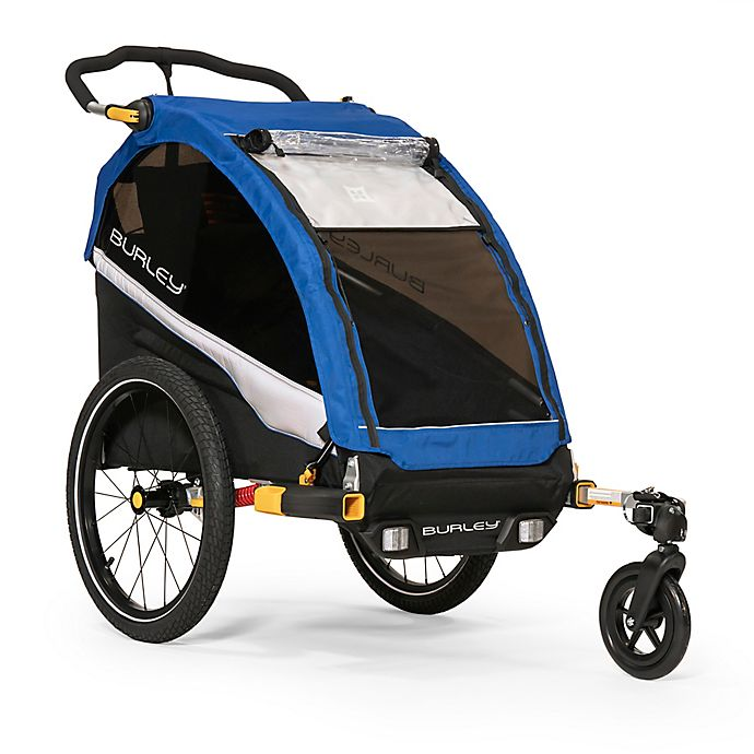 Alternate image 1 for Burley® D'Lite™ Single Bike Trailer in Blue