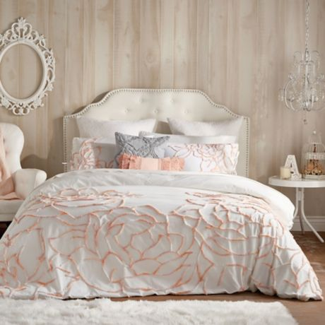 Peri Home Spacedye Chenille Rose Bedding Collection Bed