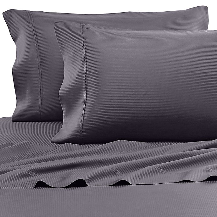 Alternate image 1 for Eucalyptus Origins™ Tencel® Lyocell 500-Thread-Count Stripe Pillowcases (Set of 2)