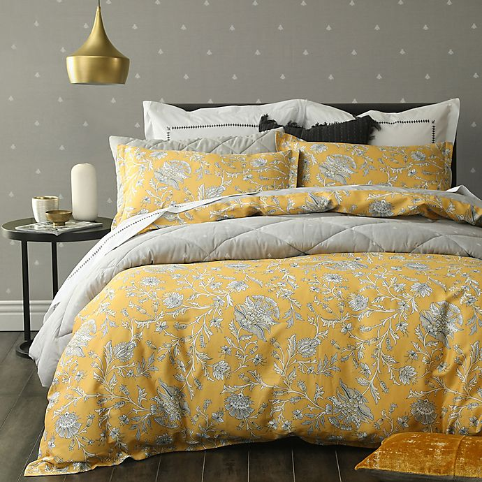 Alternate image 1 for Simone Full/Queen Duvet Cover Set in Yellow