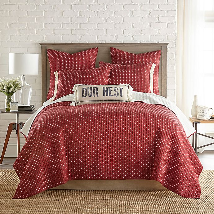 Alternate image 1 for Bee & Willow™ Home Holden Reversible Twin Quilt in Burgundy