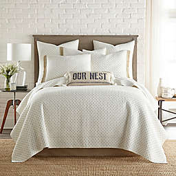 Bee & Willow™ Home Holden Reversible Twin Quilt in Taupe/Ivory