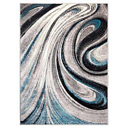 Home Dynamix Boho Odette Area Rug in Grey/Blue