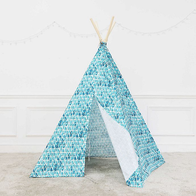 Alternate image 1 for Marmalade™ Washed Triangles Teepee in Blue