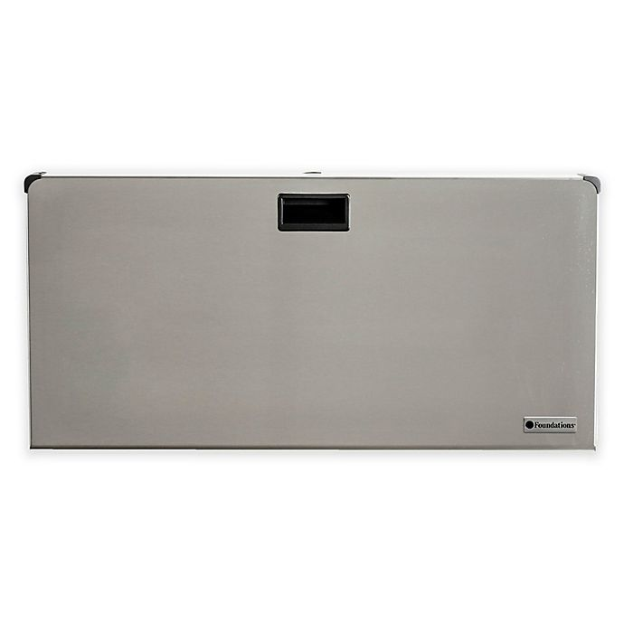 Alternate image 1 for Foundations® Stainless Steel Horizontal Changing Station