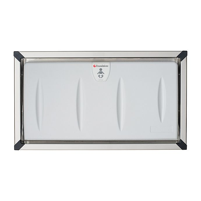 Alternate image 1 for Foundations® Classic Recessed Stainless Steel Horizontal Changing Station