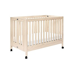 Babyletto Maki Full-Size Portable Crib in Washed Natural