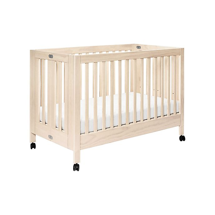 Alternate image 1 for Babyletto Maki Full-Size Portable Crib in Washed Natural