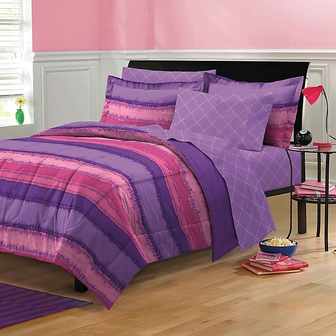 Tie Dye 7 Piece Full Comforter Set In
