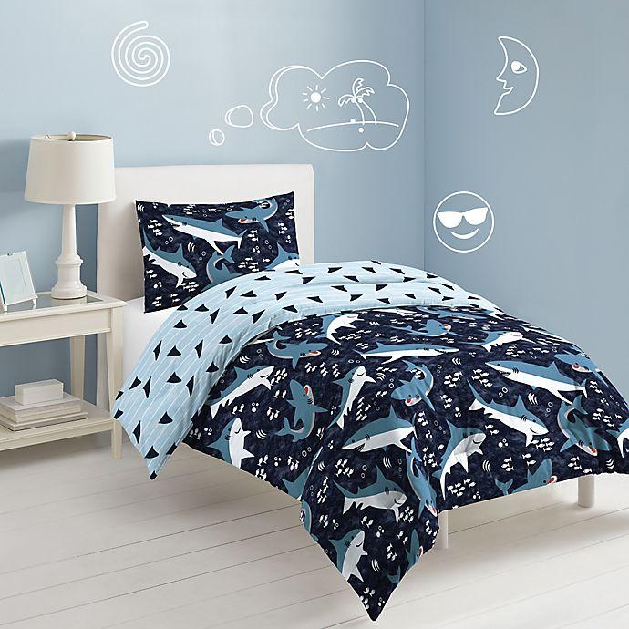 Sharks 2 Piece Reversible Twin Comforter Set Buybuy Baby