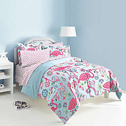 Flamingo 7-Piece Reversible Full Comforter Set