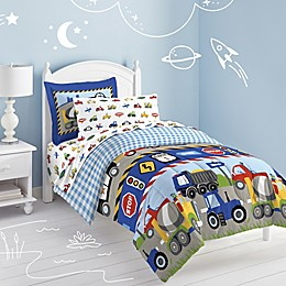 Trains and Trucks Twin Comforter Set