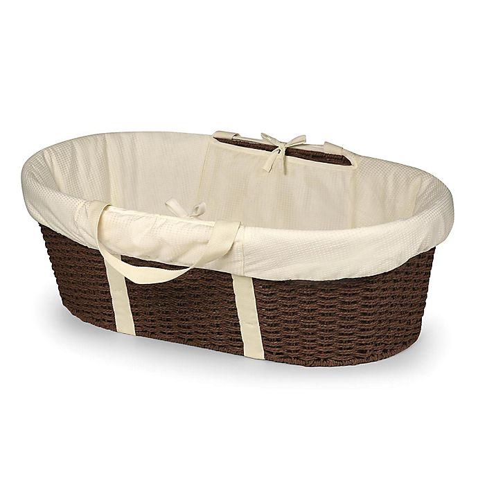 Alternate image 1 for Badger Basket® Wicker-Look Baby Moses Basket in Espresso