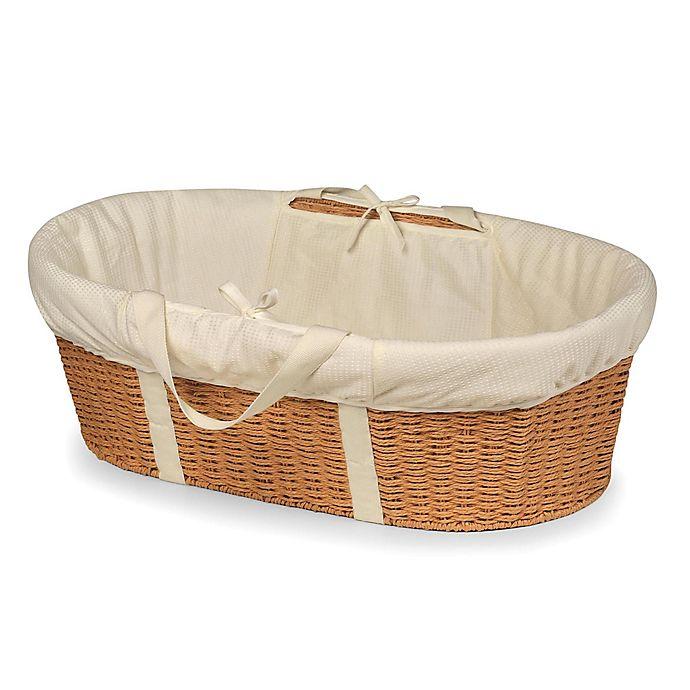 Alternate image 1 for Badger Basket® Wicker-Look Baby Moses Basket