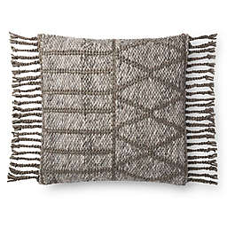 Magnolia Home By Joanna Gaines Otto Square Throw Pillow in Grey/Olive