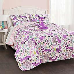 Lush Décor Pixie Fox Reversible Quilt Set