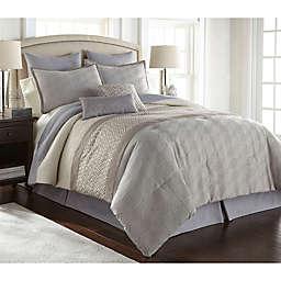 Nanshing Hardford Comforter Set in Grey/Ivory
