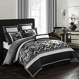 Nanshing Alex Comforter Set in Black/Grey