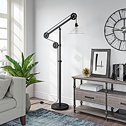 Hudson&Canal Descartes Pulley Floor Lamp