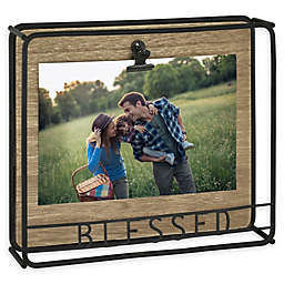 Bee & Willow™ Home 4-Inch x 6-Inch Blessed Clip Frame in Black