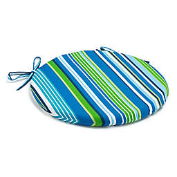 Destination Summer Stripe Bistro Indoor/Outdoor Chair Cushion
