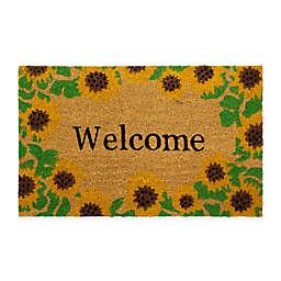 """Storm Stopper® 18"""" x 28"""" Sunflower Multicolor Welcome Doormat"""