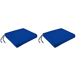 Square Seat Cushions with Ties in Sunbrella® (Set of 2)