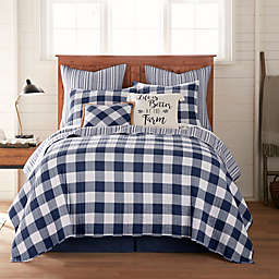 Bee & Willow™ Home Sawyer Reversible Full/Queen Quilt in Navy