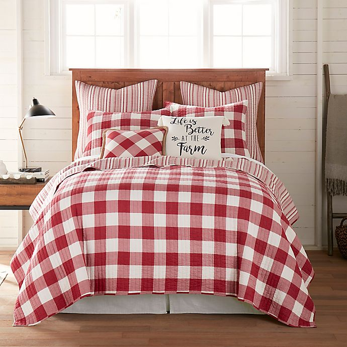 Alternate image 1 for Bee & Willow™ Home Sawyer Reversible Twin Quilt in Red