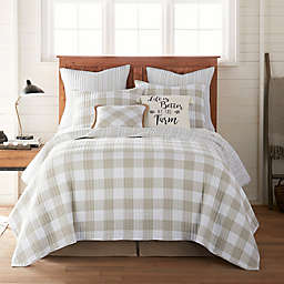 Bee & Willow™ Home Sawyer Reversible King Quilt in Taupe