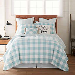 Bee & Willow™ Home Sawyer Reversible Twin Quilt in Teal