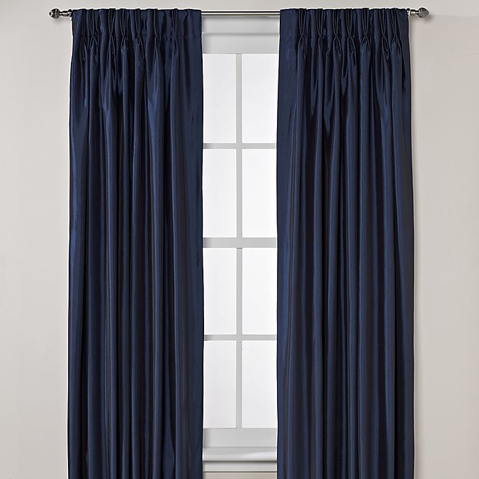 Alternate image 1 for Argentina Pinch Pleat Back Tab Interlined Window Curtain Panels