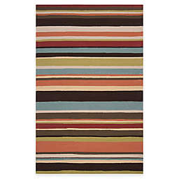 Surya Arendal Indoor/Outdoor 5-Foot x 8-Foot Area Rug in Wenge