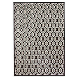 Abacasa Napa Davlin Tufted Area Rug in Black/Aqua