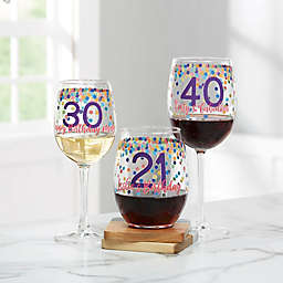 Confetti Cheers Personalized Birthday Wine Glass Collection
