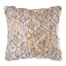 Bee & Willow™ Home Spacedye Knit Throw Pillow in Beige/Gold