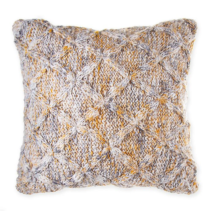 Alternate image 1 for Bee & Willow™ Home Spacedye Knit Throw Pillow in Beige/Gold