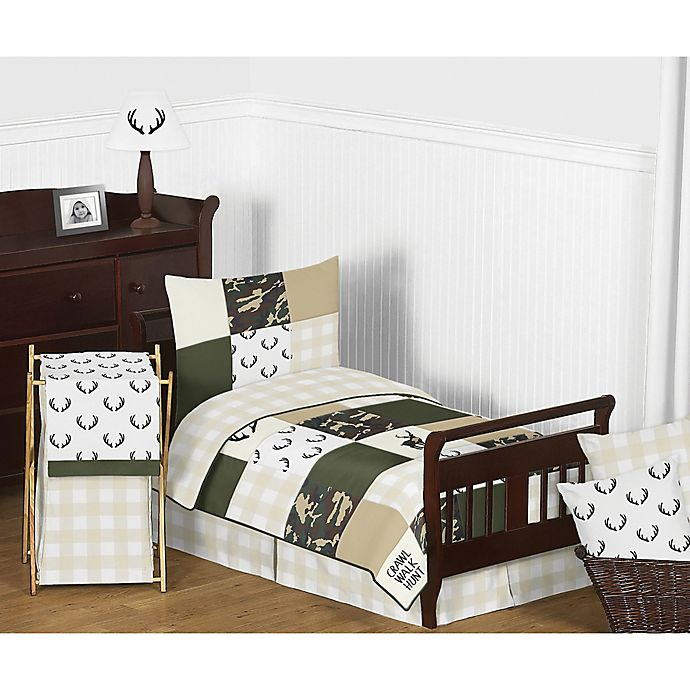 Alternate image 1 for Sweet Jojo Designs Woodland Camo Toddler Bedding Collection