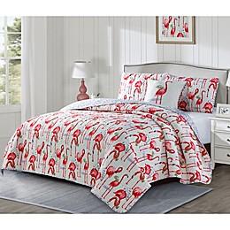 Fancy Flamingo Reversible Quilt Set
