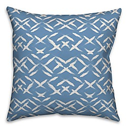 Designs Direct Aztec Square Throw Pillow in Blue/White