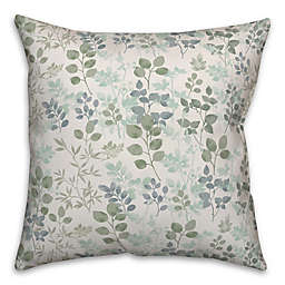 Designs Direct Spring Botanicals Square Throw Pillow in Green