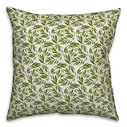 Designs Direct Botanical Circles Square Throw Pillow in Green