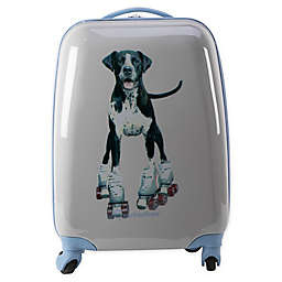 Rachel Hale® Roller Skate Dog 16-Inch Hardside Spinner Carry On Luggage in Grey